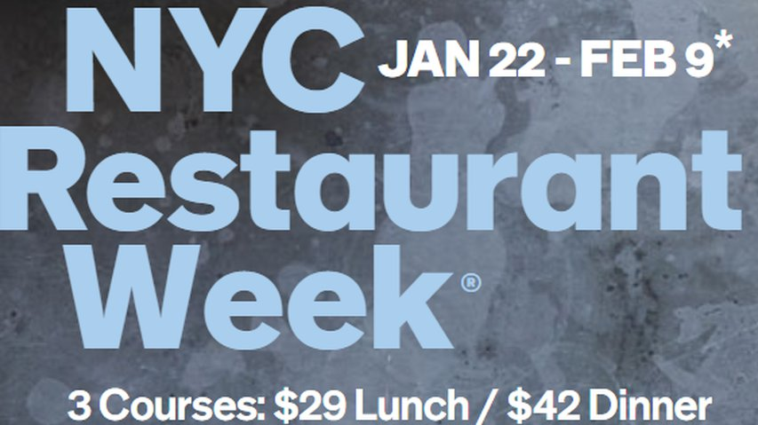 Restaurant Week Returns - January 22 through February 9